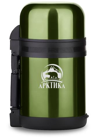 Термос универсальный (для еды и напитков) Арктика (1,5 литра) с широким горлом, болотный
