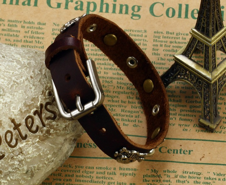 Мужской браслет из кожи Steelman mn0383