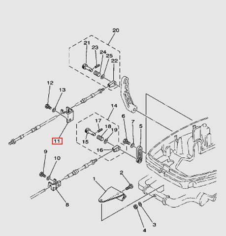 Кронштейн крепления троса ДУ1 Т30EР (13-11W)