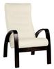 Кресло «Ладога-2», ткань слоновая кость, каркас венге структура, GREENTREE