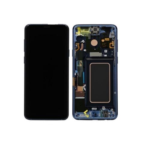 LCD SAMSUNG Galaxy S9 G960F + Touch + Frame Blue Orig