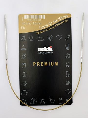 Спицы круговые супергладкие металлические Addi 40 см 3.5 мм