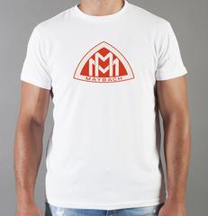 Футболка с принтом Майбах (Maybach) белая 001