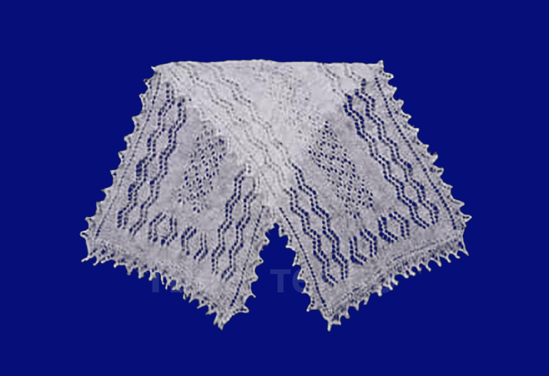 Пуховый шарф паутинка