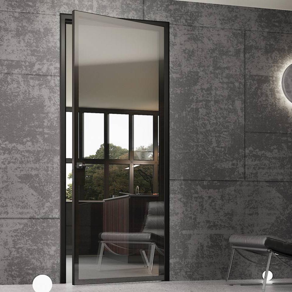 Новинки Межкомнатная алюминиевая дверь Miksal Slim 60 Triest стекло серое Stopsol stopsol-miksal.jpg