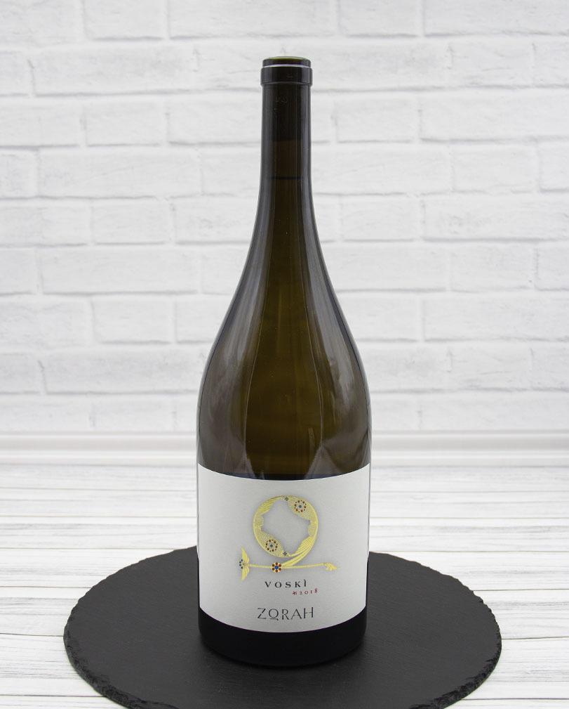 Вино Zorah Воски Белое Сухое 2018 г.у. 13,5% 1,5 л
