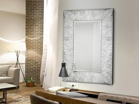 Зеркало Aurora120x80 серебро