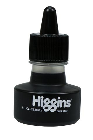 Чернила HIGGINS BRICK RED Dye-Based 1 OZ, 29,6 мл