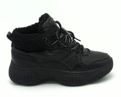 Кросовки черного цвета комбинированные