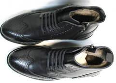 Стильные ботинки мужские с мехом LucianoBelliniBC3801L-Black .