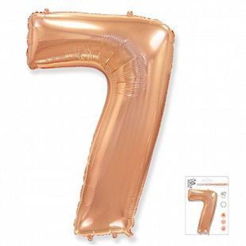 Цифра семь - розовое золото