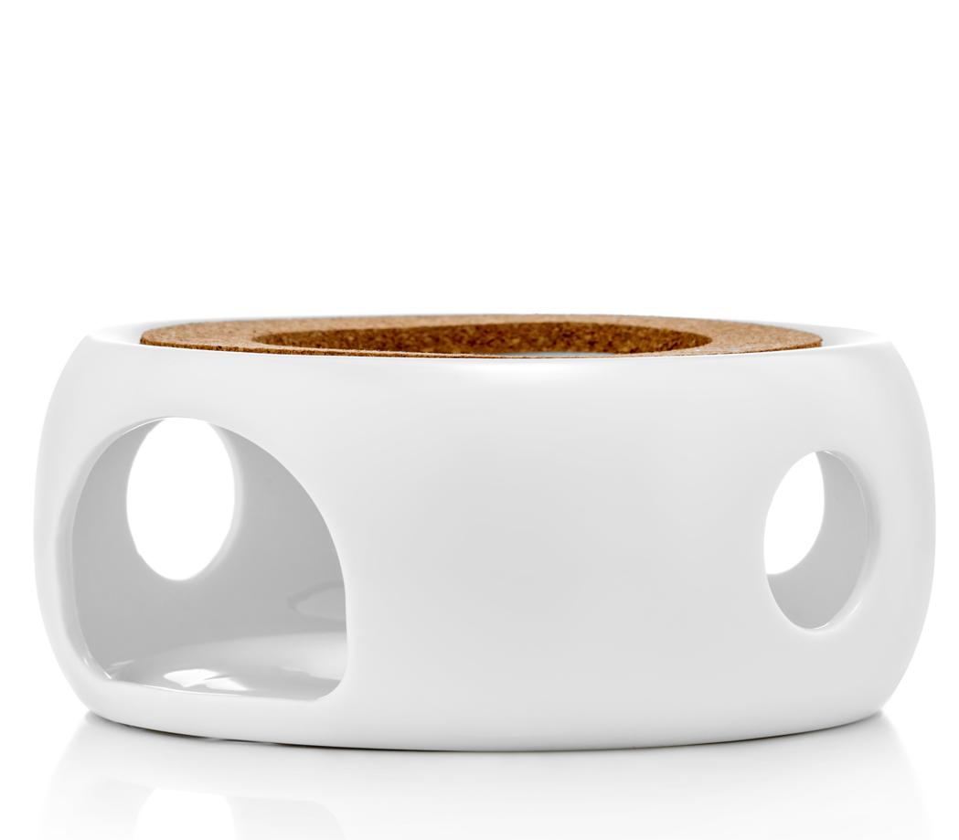 """Подставка для чайника Подставка-нагреватель """"Prometheus"""" для подогрева чайника свечой керамическая CH02SW белая podstavka-podogrev-CH02SW-teastar.PNG"""