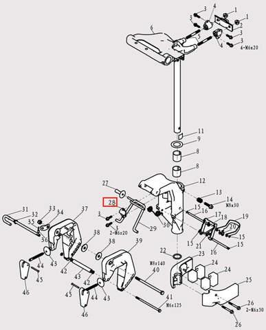 Скоба рамки для лодочного мотора F9.8 Sea-PRO (13-28)
