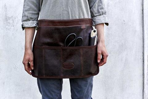 Фартук кожаный садовый для инструментов с 4 карманами Bradleys
