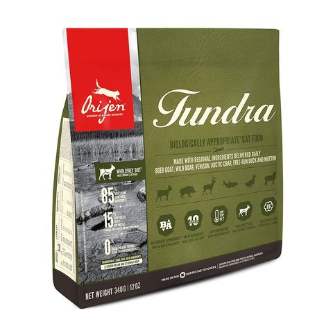 Orijen Tundra 85/15 корм беззерновой для кошек 340 г