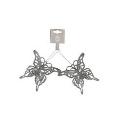 Подсеска бабочка 2шт 10х9х1.5см House of Seasons серебро