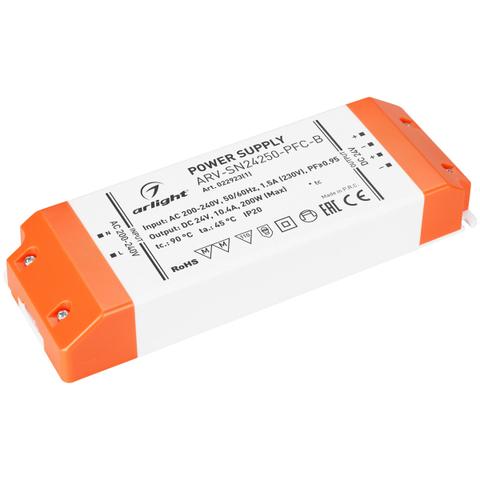 Блок питания ARV-SN24250-PFC-B (24V, 10.4A, 250W) (ARL, IP20 Пластик, 3 года)