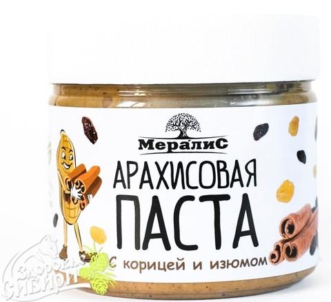 Арахисовая паста с корицей и изюмом, 300 гр