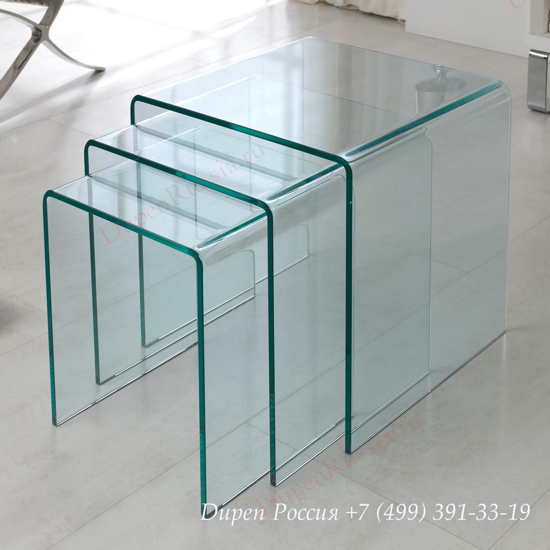 Набор из трех столиков DUPEN ND-01 прозрачный
