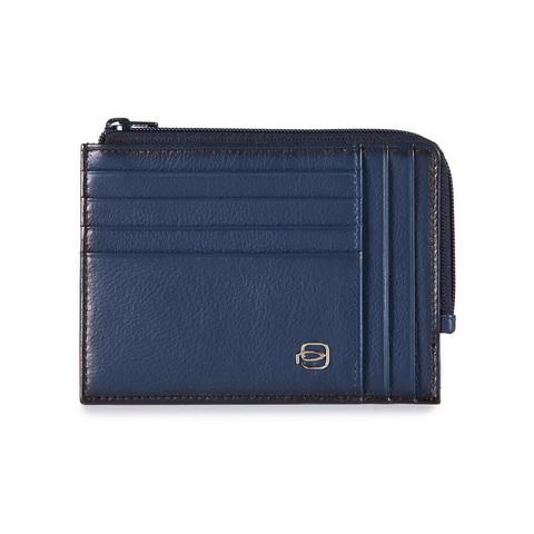 Чехол для кредитных/визитных карт Piquadro Vibe, синий, 12,5х9,5х1 см