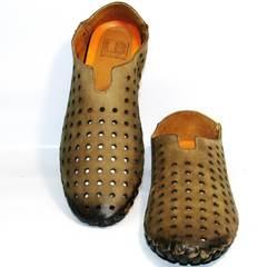 Мужские туфли перчатки Luciano Bellini 107703 Beige.