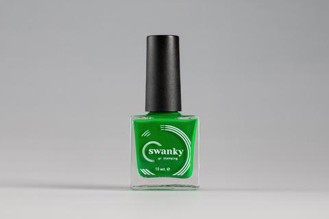 Лак для стемпинга Swanky Stamping №009, зеленый, 10 мл.