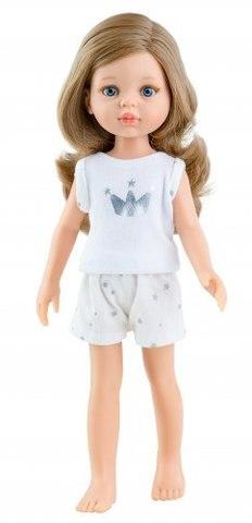Кукла Карла без челки с голубыми глазами в пижамке, 32 см, Паола Рейна