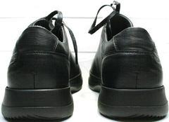 Удобная обувь для долгой ходьбы. Мужские кроссовки черного цвета осень весна Ikoc 1725-1 Black.