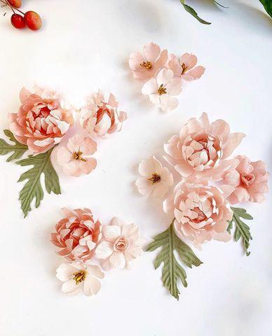 Набор розовых хризантем