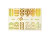 Фольга для дизайна ногтей золото галогеновое 36 купить за 120руб