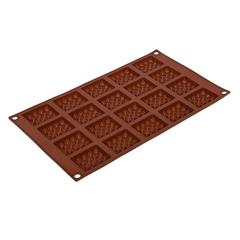 Форма для выпечки из силикона «Прямоугольное печенье» 30х17,5 см, 20 ячеек