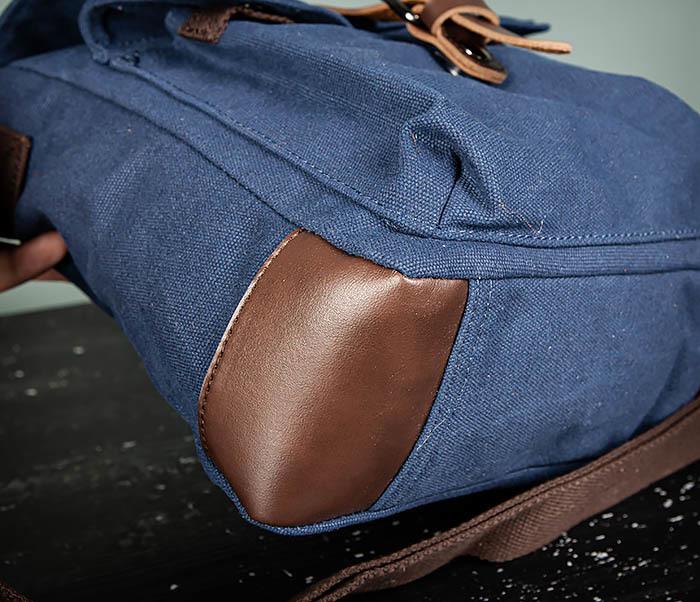 BAG503-3 Мужская сумка «почтальонка» из ткани синего цвета фото 05