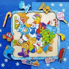 Пазл головоломка Новый год, Leoboom