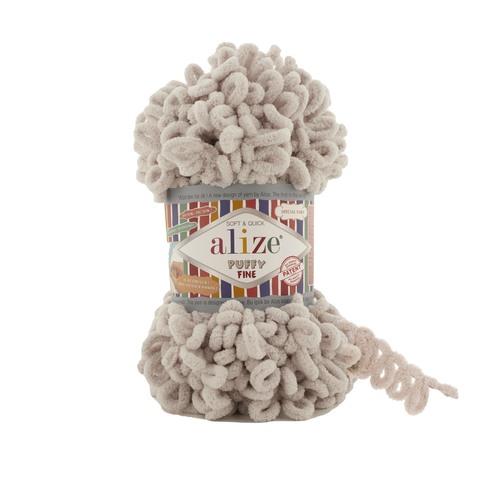 Купить Пряжа Ализе Пуффи Файн Код цвета 599 Телесный   Интернет-магазин пряжи «Пряха»
