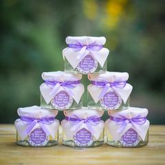 Бонбоньерка с медом на свадьбу в нежных тонах, 140 грамм