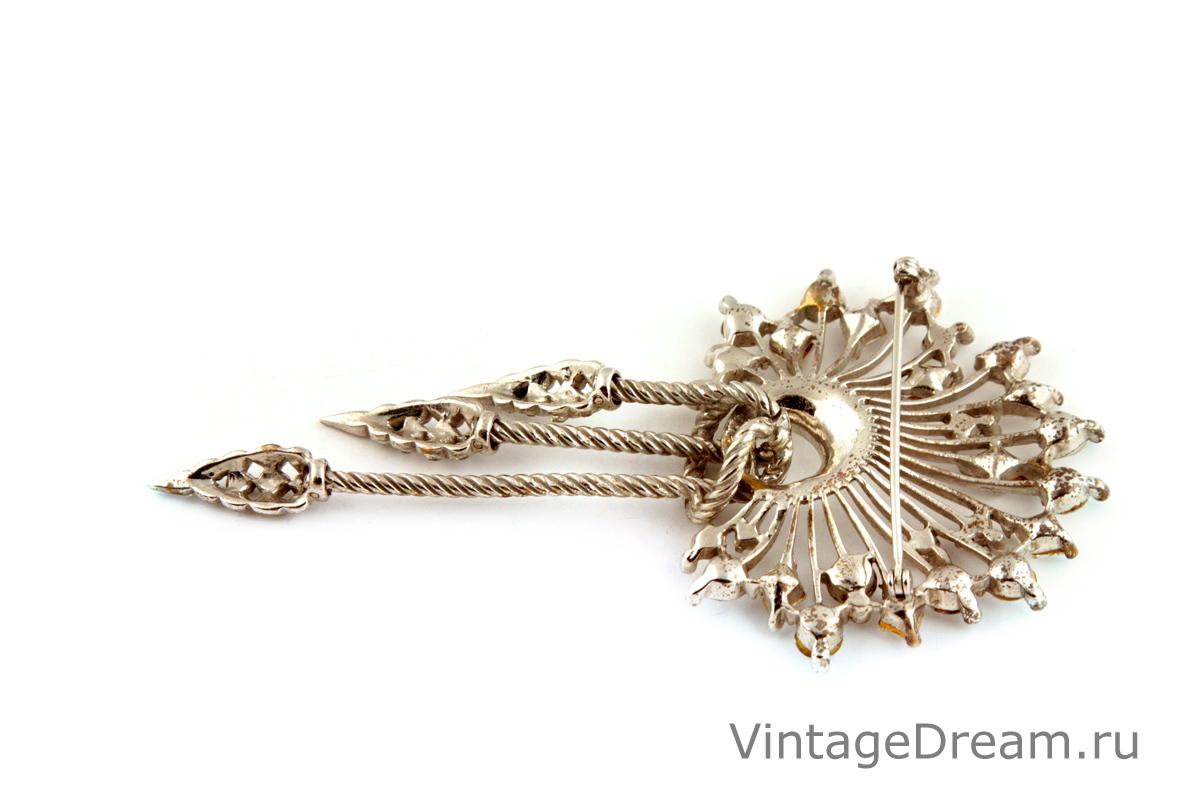 Редкая серебряная брошь от Boucher, 40-е гг.