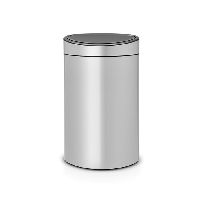 Мусорный бак Touch Bin New (40 л), Серый металлик, арт. 114922 - фото 1