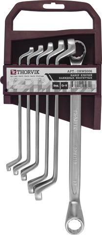 ORWS006 Набор ключей гаечных накидных изогнутых 75° на держателе, 6-19 мм, 6 предметов