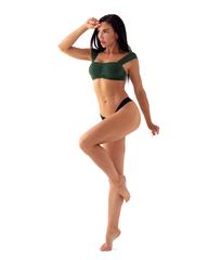 Спортивный топ Nebbia Miami retro bikini - top 553 green