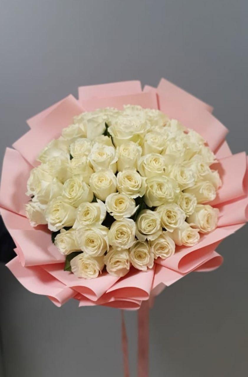 Букет из 51 розы белые (Б-3)
