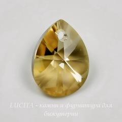 6128 Подвеска Сваровски Капля Crystal Golden Shadow (12 мм)