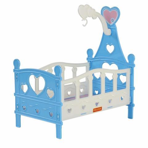 Кроватка для кукол №3, сборная, 6 элементов (в пакете), Полесье, 62055
