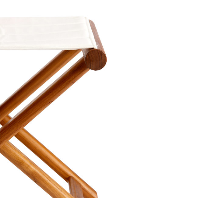 FOLDING STOOL TEAK – OLEFIN BLUE NAVY