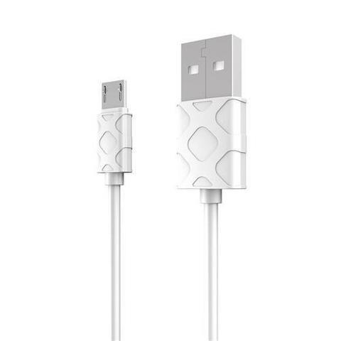 Baseus / кабель для microUSB - USB серия YAVEN | 1м белый с текстурой