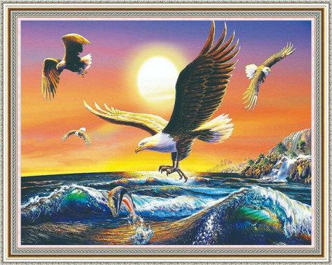 Алмазная Мозаика 40x50 Охота на закате (арт. WXSA2405)