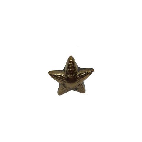 Звезда на погоны мет. 13 мм. риф. зол. (аналог латунной)