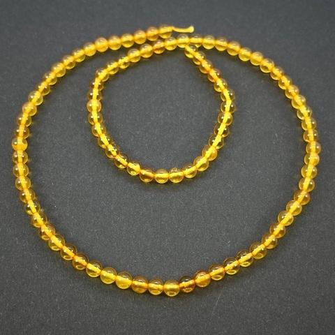 Бусины из натурального янтаря шар 4,5 мм