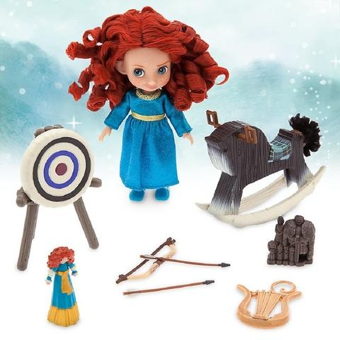 Дисней Аниматор Храбрая Сердцем набор с мини куклой Меридой