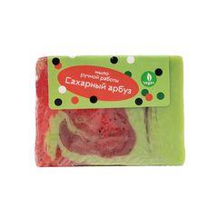 Мыло ручной работы (глицериновое) Сахарный арбуз,100g ТМ Мыловаров