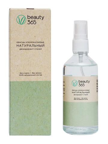 Дезодорант натуральный минеральный 100мл, Beauty 365 (Бьюти 365)